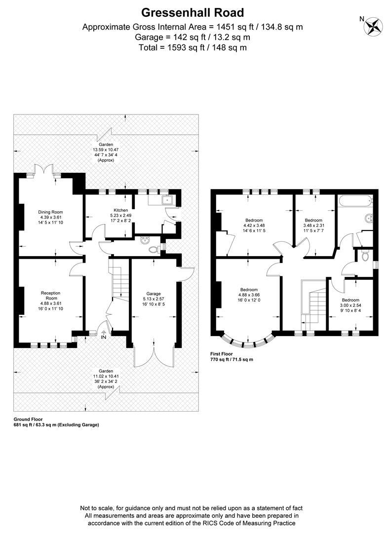 Floorplan for Gressenhall Road, London